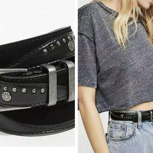 Free people Issa black embellished belt new s/m 🌟